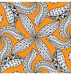 Black and orang pattern vector