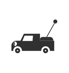 Black icon on white background kids truck vector