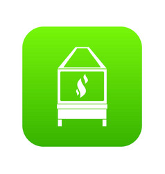 Blacksmith icon digital green vector