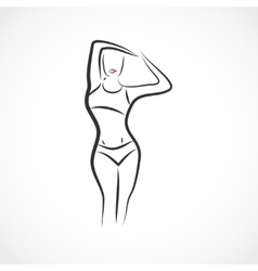 Body shape vector image