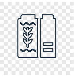 cereal concept linear icon isolated on vector image