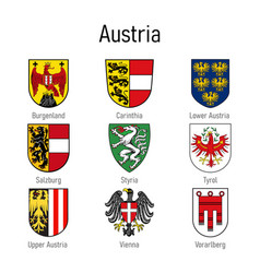 Coat arms states austria all vector