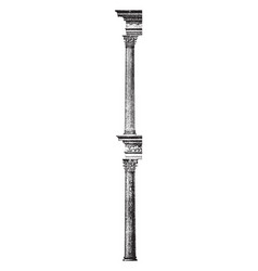 Corinthian column principal classical orders of vector