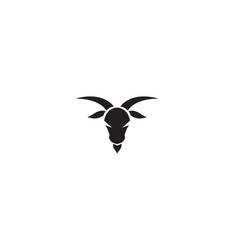 Creative black goat head logo design symbol vector