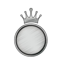 crown decorative emblem vector image