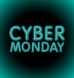 Cyber monday sale background of embossed letters vector
