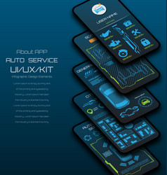 Design mobile applications car service vector