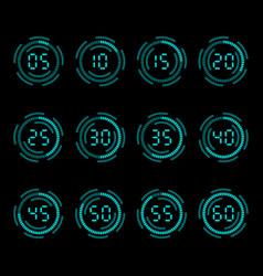 digital countdown timer vector image