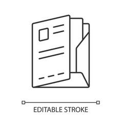 Document folder paper case linear icon portfolio vector