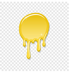 Drip paint spot 3d isolated white transparent vector
