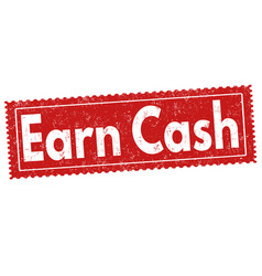 Earn cash sign or stamp vector