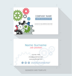 Engineering business card or name card template vector