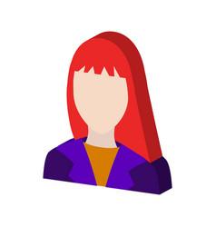 Female avatar symbol flat isometric icon or logo vector