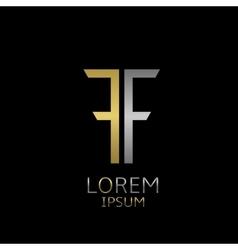 ff letters logo vector image
