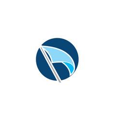 flag logo design vector image