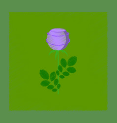 Flat shading style plant rosa vector