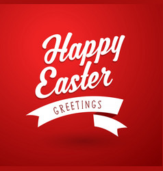 happy easter holiday greeting card template vector image