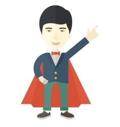 Hero chinese man pointing up high to the sky vector image