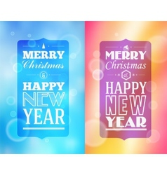 Holidays Frame happy merry christmas - new year vector image