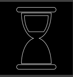Hourglass the white path icon vector