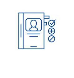 human resource development line icon concept vector image