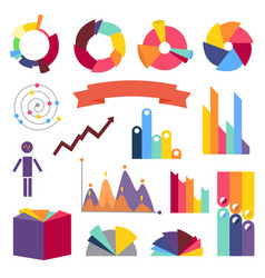 infographs infographic charts elements collection vector image