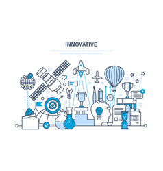 Innovation creative thinking and creative process vector