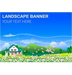 Landscape background banner vector image