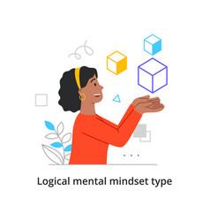 Logical and mathematical mindset vector