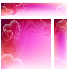 Love Website Banners vector image