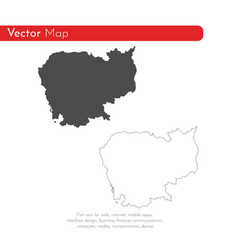 map cambodia isolated black vector image