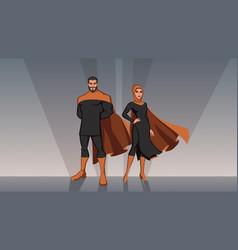 Middle eastern superhero couple vector