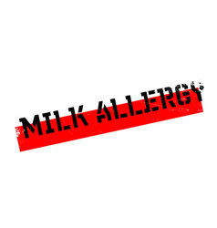 milk allergy rubber stamp vector image