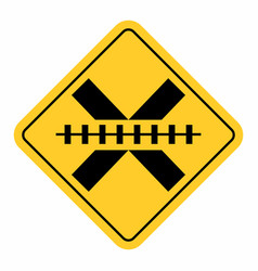 no barrier railway cross traffic sign vector image