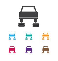 Of car symbol on service icon vector