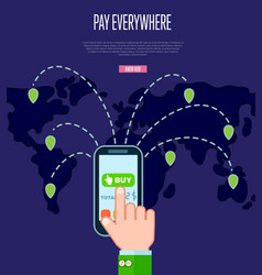 pay everywhere service concept in flat design vector image