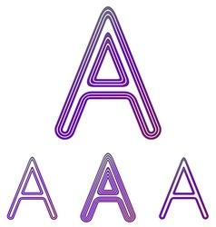 Purple line letter a logo design set vector