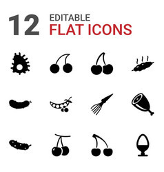 raw icons vector image