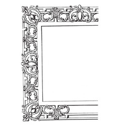 Rectangular frame for table tops vintage engraving vector