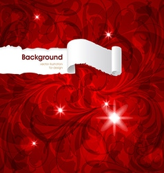 Red Floral Patterned Background vector