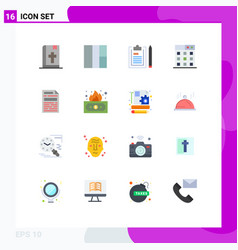 Set 16 modern ui icons symbols signs for risky vector