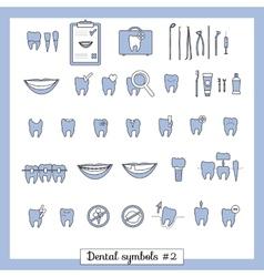 Set dentistry symbols part 2 vector