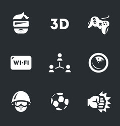 set of video games icons vector image