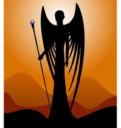 Silhouette of an angel vector image