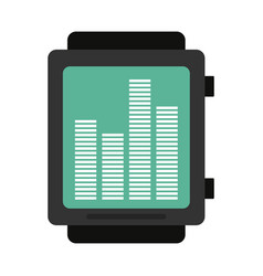 Smartwatch playing music icon image vector