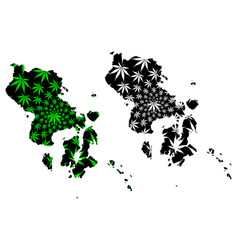 Southeast sulawesi subdivisions indonesia vector