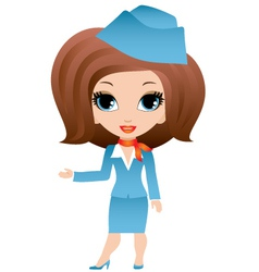 Stewardess cartoon vector