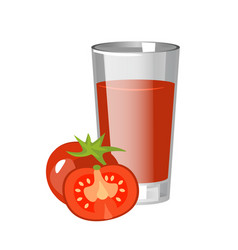 tomatoes juice with tomatoes branch vector image