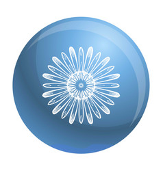 top view chamomile icon simple style vector image
