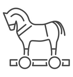 trojan horse virus icon outline style vector image